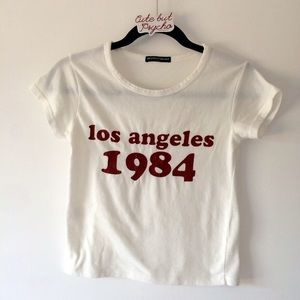 brandy melville los angeles crop top